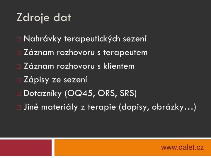 Zdroje dat