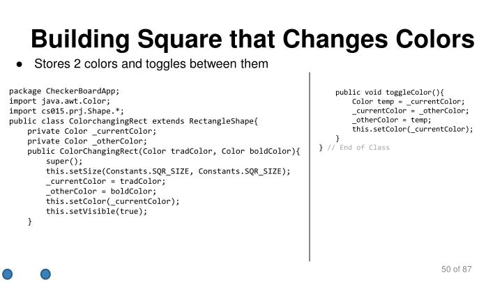 Building Square that Changes Colors