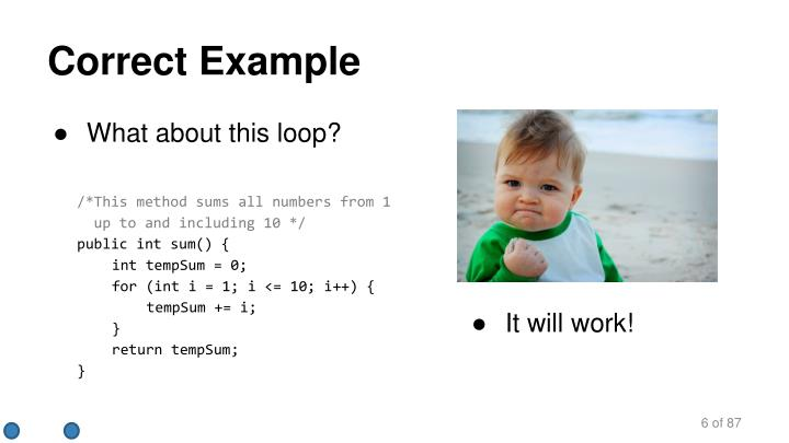 Correct Example