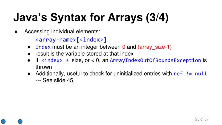 Java's Syntax for