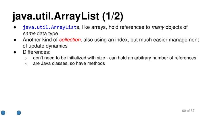 java.util.ArrayList (1/2)