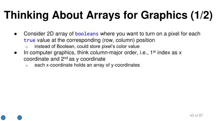 Thinking About Arrays for