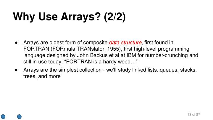 Why Use Arrays