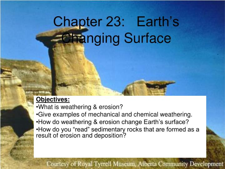 Chapter 23 earth s changing surface