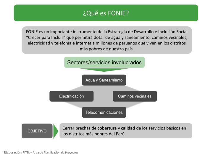 ¿Qué es FONIE?