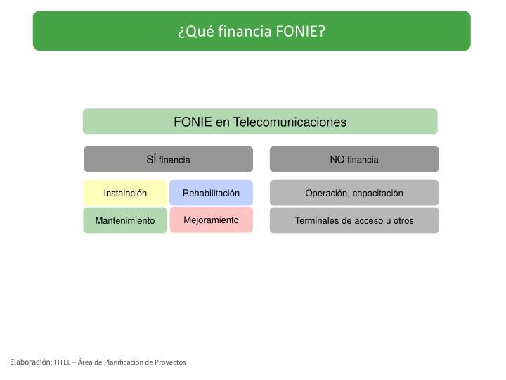 ¿Qué financia FONIE?