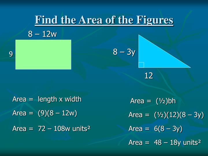 Find the Area of the Figures