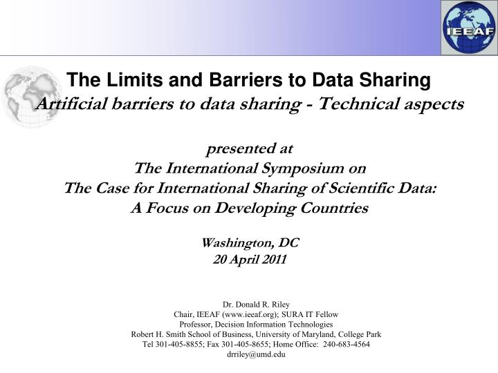 The Limits and Barriers to Data Sharing