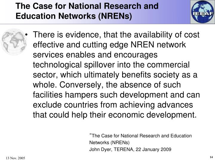 The Case for National Research and Education Networks (NRENs)