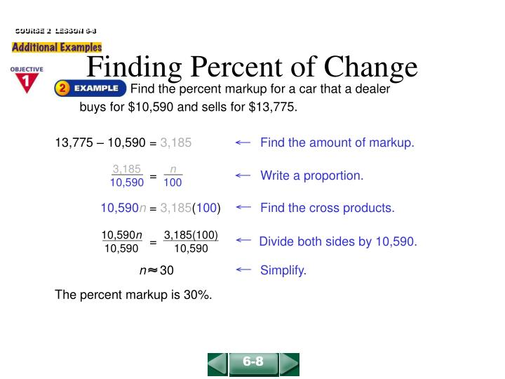 Finding percent of change1