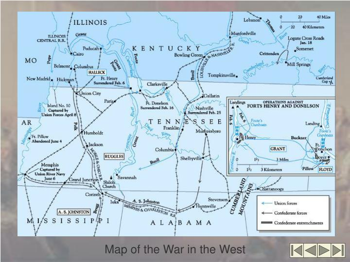 Map of the War in the West