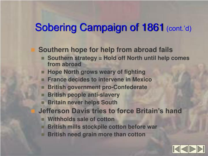 Sobering Campaign of 1861