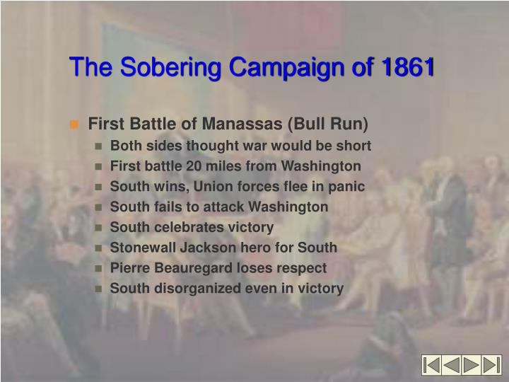 The Sobering Campaign of 1861