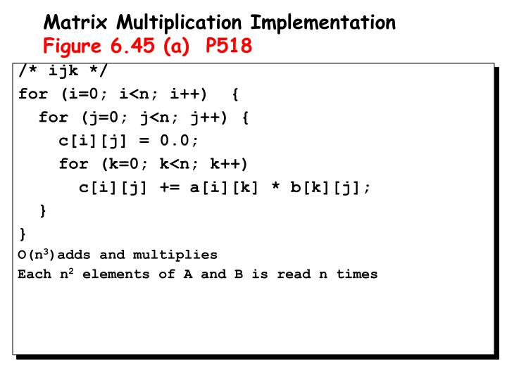 Matrix Multiplication Implementation