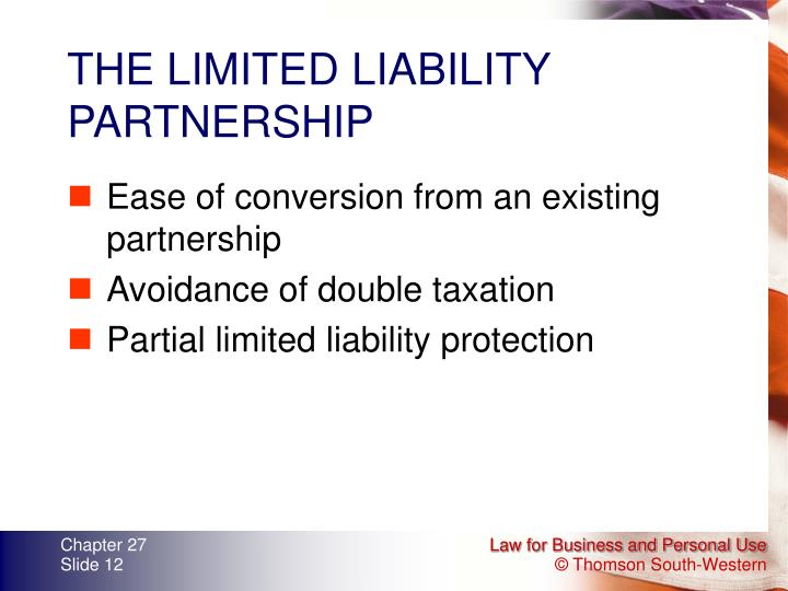 THE LIMITED LIABILITY PARTNERSHIP