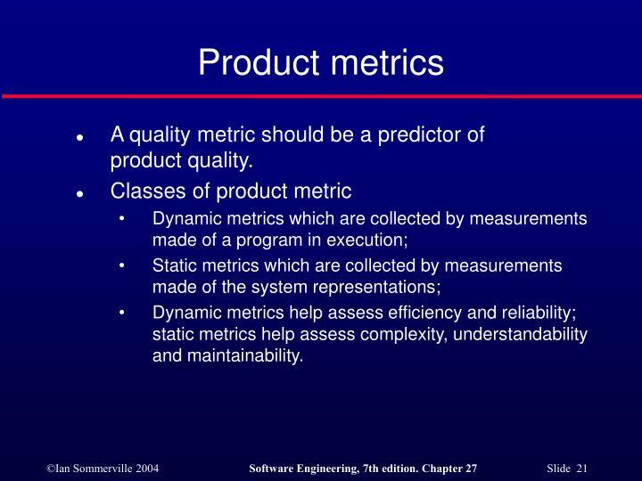 Product metrics