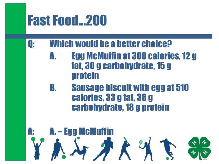 Fast Food…200