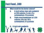 fast food 300