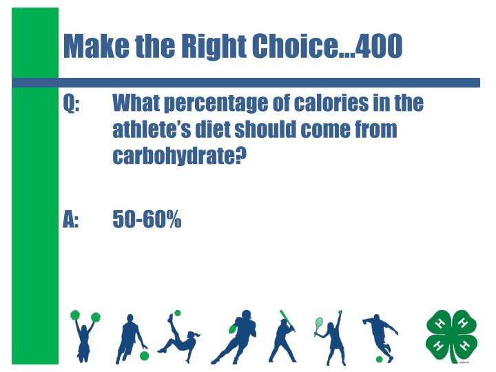 Make the Right Choice…400