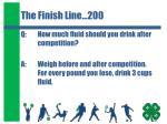 the finish line 200