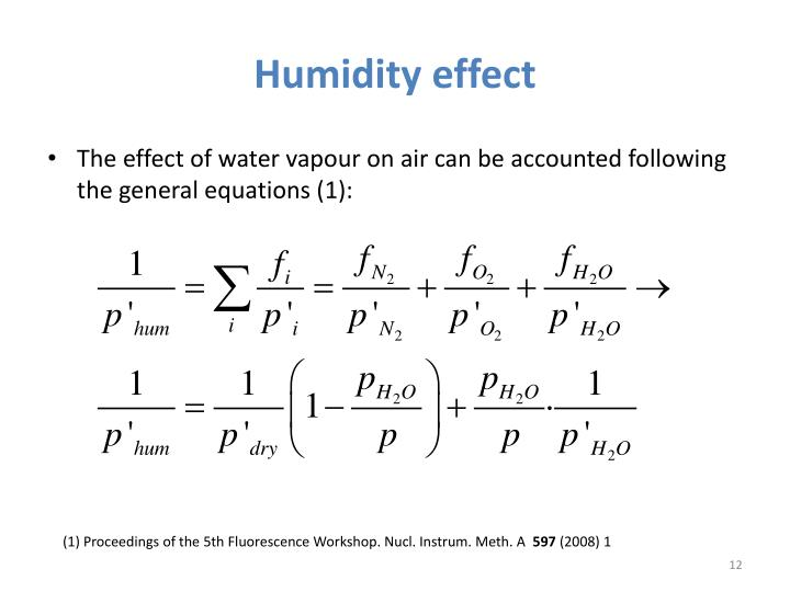 Humidity effect