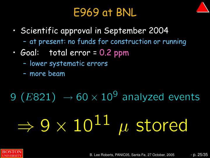 E969 at BNL