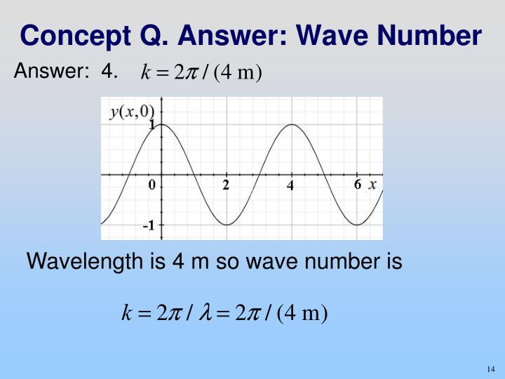 Concept Q. Answer: Wave Number