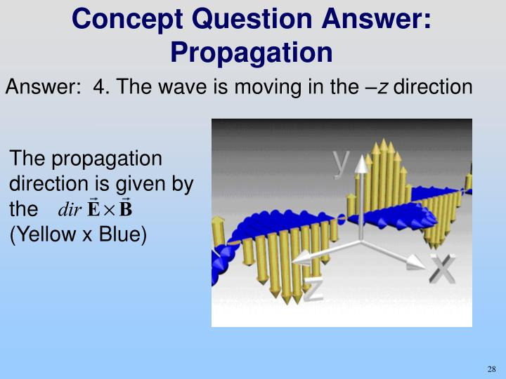 Concept Question Answer: Propagation