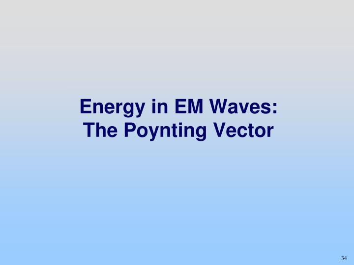 Energy in