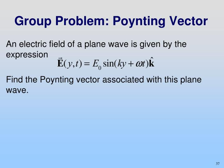 An electric field of a plane wave is given by the expression