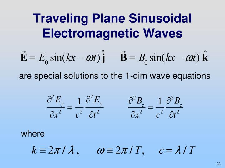 Traveling Plane Sinusoidal Electromagnetic Waves