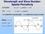 wavelength and wave number spatial periodicity