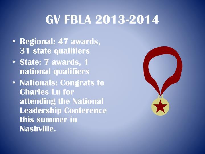 GV FBLA 2013-2014