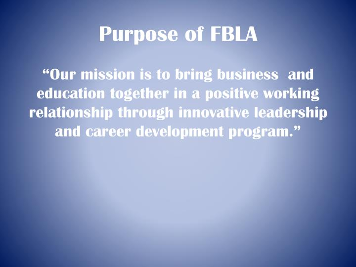 Purpose of FBLA