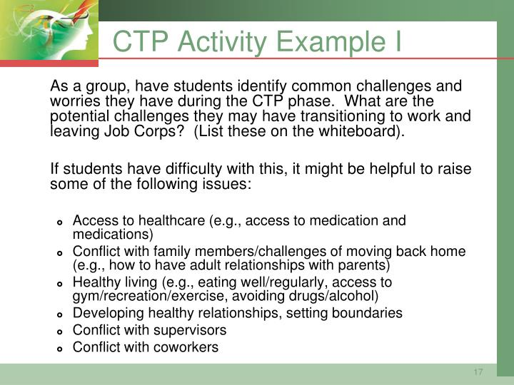 CTP Activity Example I