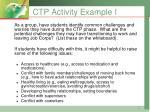 ctp activity example i