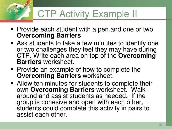 CTP Activity Example II