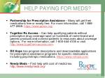help paying for meds