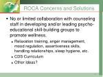 roca concerns and solutions2