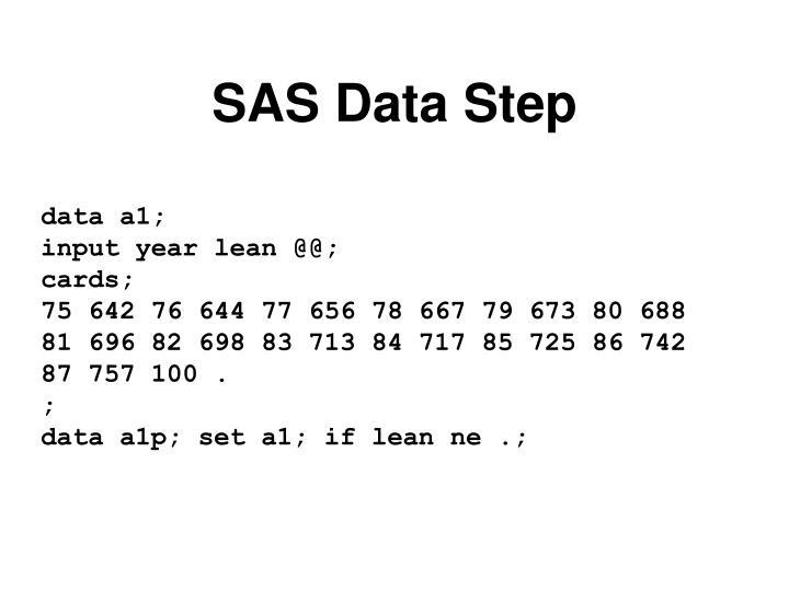 SAS Data Step