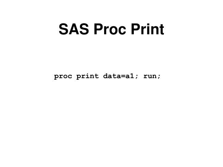 SAS Proc Print