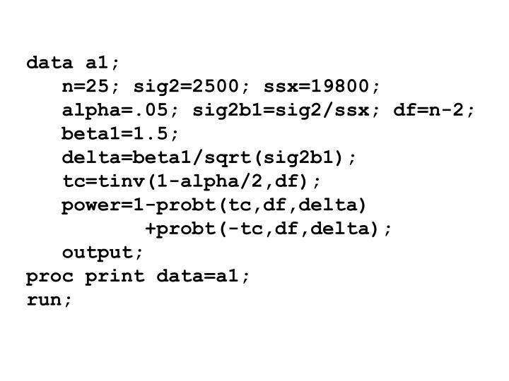 data a1;
