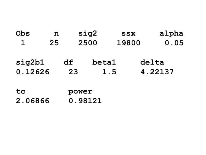 Obs     n    sig2     ssx     alpha