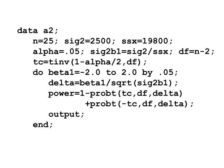 data a2;