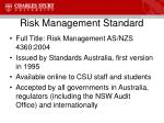 risk management standard