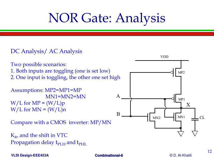 NOR Gate: Analysis