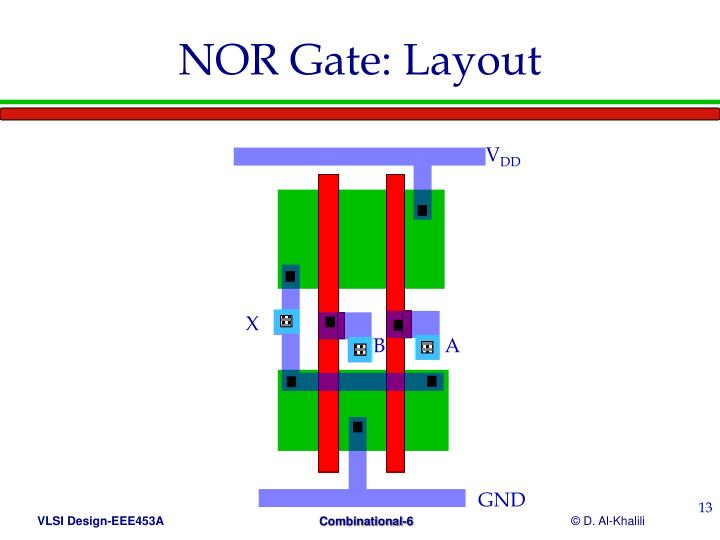 NOR Gate: Layout