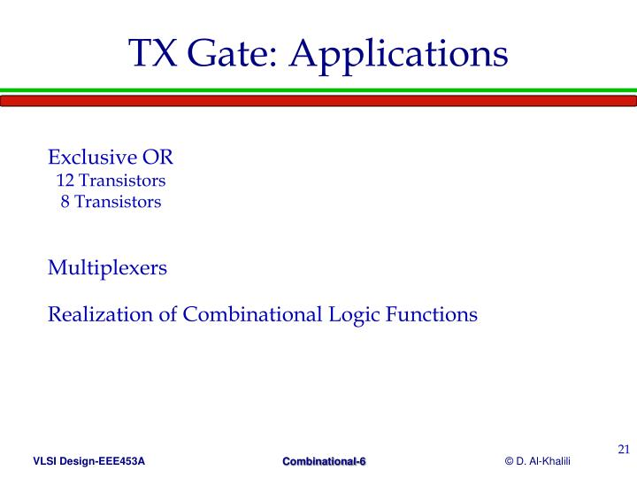 TX Gate: Applications