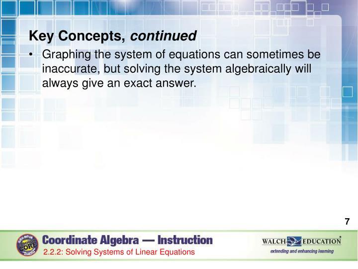 Key Concepts,