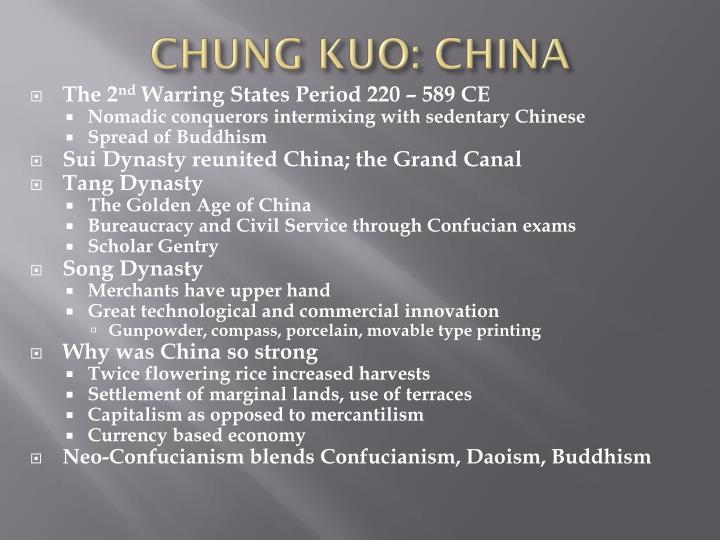 CHUNG KUO: CHINA